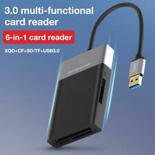 6 In 1 High Speed USB 3.0 2Port HUB Adapter to XQD/CF/for SD/TF Card Reader Kit