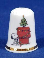 Snoopy Home For Christmas China Thimble B/97