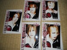the GazettE  5 PhotCards  JapanLimited (A)