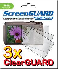 3x Clear LCD Screen Protector Guard Film for Sony Cyber-shot DSC-HX20V DSC-HX30V