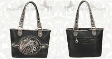 New Montana West Womens Horse Logo High Quality Stylish Leather Purse MHS-8014BK
