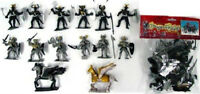 DRAGON KNIGHTS Playset 12 Painted Plastic Figures 2 Winged Horses 1/32 FREE SHIP