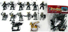 Toy Soldiers Knights Dragon Playset 12 Painted Plastic Figures 2 Horses 1/32 #29