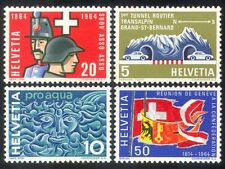 Switzerland 1964 Military/Uniforms/Cars/Tunnel/Transport/Water/Flags 4v (n38696)