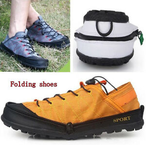 Men Women Canvas Folding sports shoes Athletic Sneakers running Wallet Trainers