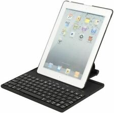 Bluetooth Wireless Keyboard Rotating Stand Case for ipad 2 3 4 (Black)