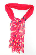 PLAYFUL BRIGHT PINK LIGHTWEIGHT SUMMER STYLE SCARF FUN MULTICOLOUR DOTS (MS17)