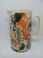 Ringtons Tea Label Water Jug Wade Ceramics Vintage British