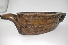Vintage Old  Hand Carved Wooden Kharal Opium Water Pot Bowl Serpent Head