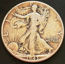 1943 USA Walking Liberty Silver 50 Cent Half Dollar Coin