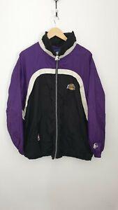 Starter NBA Los Angeles LA Lakers Basketball Size M Zip Up Windbreaker Jacket