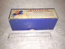 Vintage Defender Atomizer - Brown Amber Glass - Original Packaging -Works