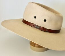 Vintage Akubra Australian Outback Hat 'The Territory' Sand XS 53cm Leather Band
