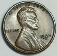 AU/BU 1923 - S - US Lincoln Wheat Cent - Semi Key Date - Woody on Reverse (Q400)
