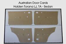 Holden Torana LJ, TA Door Cards, Trim Panels. 4 Door Sedan. Quality Masonite.