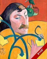 SELF PORTRAIT OF PAUL GAUGUIN FRENCH ARTIST PAINTING ART REAL CANVAS PRINT