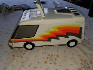 Vintage 1991 Galoob Micro Machines Super Van City Fold Out Playset with Cars