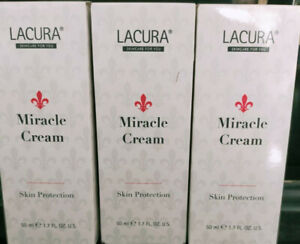 LACURA Miracle Cream Face Body Skin Protection Soothing 3 X 50ml New