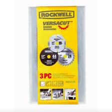 Rockwell 3 Piece Circular Saw Blade Set 3-3/8 inch Diamond Carbide High Speed
