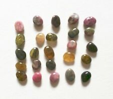 Natural TOURMALINE pebble bead / strand 8mm(w) x 10mm(l) - 25 beads