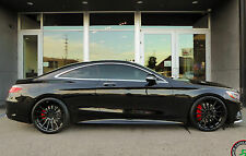 "21"" Road Force RF15 Gloss Black Wheels Mercedes S400 S550 S600 S63 (Set of 4)"