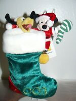 "2003 Disney's Christmas Collection Toy Mickey & Pluto Stocking 9"""