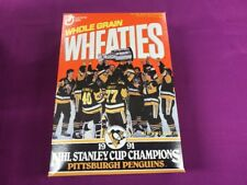1991 PENGUINS STANLEY CUP CHAMPIONS FULL WHEATIES BOX