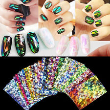 New Shine Nails Stickers Galaxy Foil Transfer Nail Art Decal DIY Gel Tips Wrap