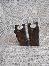 Vintage / Anique  Brown  Wooden  Salt & Peper  Shakers,
