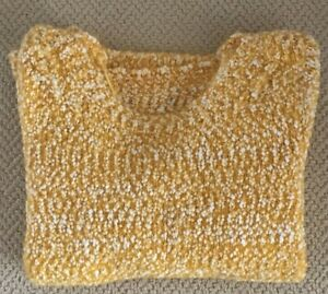 Ex M&S Per Una Small (UK 8-10) Yellow Soft Popcorn Boucle Style Knit Jumper £35