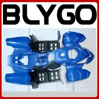 BLUE Plastics Fairing Fender Guards Cover Kit 110cc 125cc Quad Dirt Bike ATV