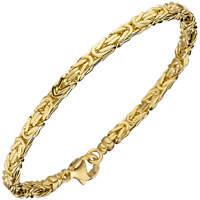 3,2mm Königsarmband Armkette aus 585 Gold Gelbgold Armschmuck 19cm, Goldarmband