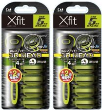 [KAI] Xfit Razor, 5-Blades, 3D Head, Manual - 2 Razor + 12 Refill Cartridges