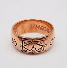 Wicca Ring LP Kuay Sacred Yant Copper Thai Buddha Amulet Talisman Luck Power S11