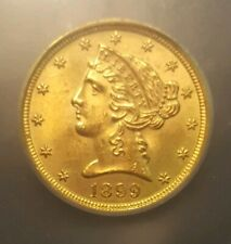 1899 MS65 $5.00 Liberty Head Gold Half Eagle - ICG Graded.  LOW SHIPPING!!