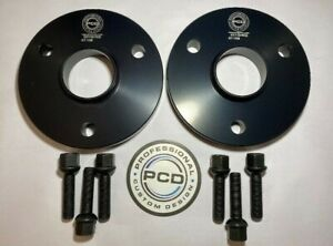 Smart 450 451 ROADSTER 3x112 Hubcentric Spacers 15mm Wide 57.1CB & 6 Bolts BLACK
