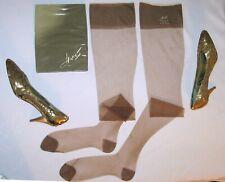 3 Pr Hanes 415 Rht Flat 6015 Vintage Nylon Stockings 10.5 10 1/2 X 34 New In Box