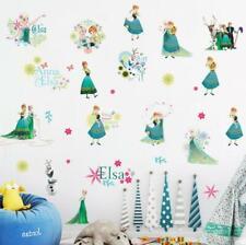 PRINCESS FROZEN ELSA ANNA  WALL STICKER DECAL  NURSERY/KIDS/GIRLS ROOM MURAL