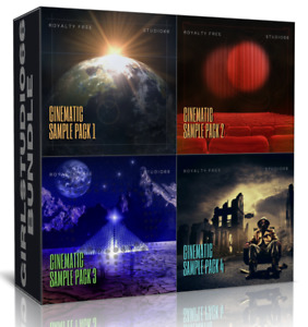 Cinematic Samples Bundle Packs 1-4 Wav Loops Logic Cubase Ableton Live Bitwig