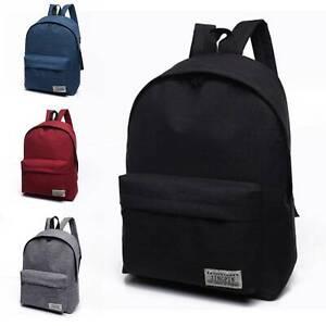 Women Men Shoulder Ruck Sack Canvas College School Book Travel Bag Backpack New