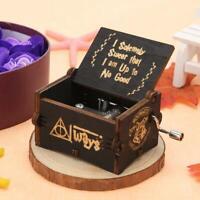 """Harry Potter"" Wooden Hand Crank Music Box Classic Handmade Birthday Toys Gift"
