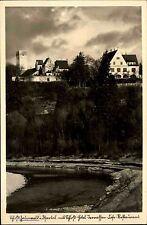Grünwald bei München Bayern ~1933/38 Isartal Restaurant Lokal Burg Festung Fluß