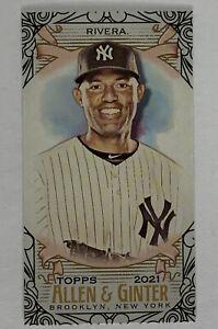 2021 Topps Allen & Ginter Mariano Rivera Black Border Mini #115 Yankees