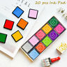 20pcs DIY Multicolor Rubber Stamp Craft Ink Pad Scrapbooking Craft Finger Paint