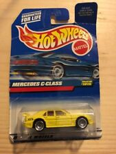 New Hot Wheels #1015 Mercedes C-class Yellow 97 Die Cast Metal Mattel Wheels Toy