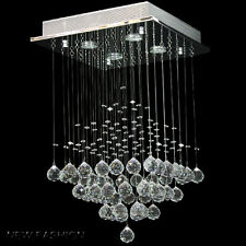 Modern Square Clear Crystal droplet Ceiling Light Pendant  Lampadari da soffitto