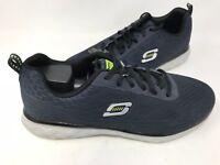 NEW! Skechers Men's Lace Up Athletic Training Shoes Dark Navy #50080* 182P tz