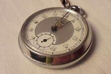Ruhla Taschenuhr, Funktionstüchtige Uhr mit Kette Leuchtziffern und Leuchtzeiger