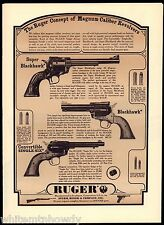 1963 RUGER Super & Blackhawk, Convertible Single-Six Revolver AD >Advertising<
