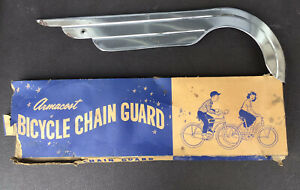 VINTAGE 1950s-60s ARMACOST BICYCLE CHROME CHAIN GUARD WITH BOX